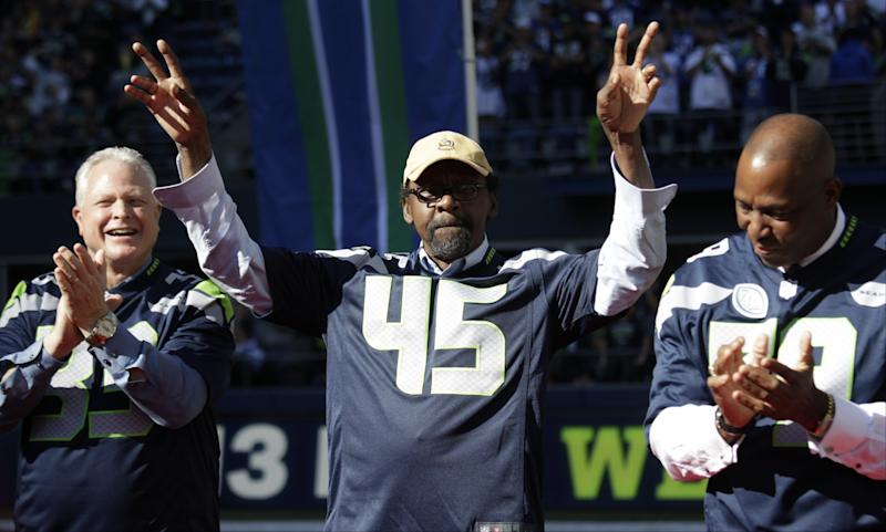 Kenny Easley (45) will be inducted to the Pro Football Hall of Fame on Saturday. (AP)