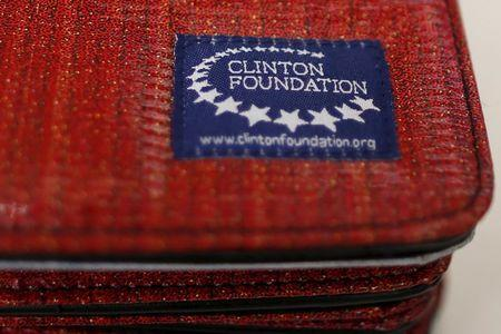 Clinton Foundation iPad covers are seen for sale at the Clinton Museum Store in Little Rock