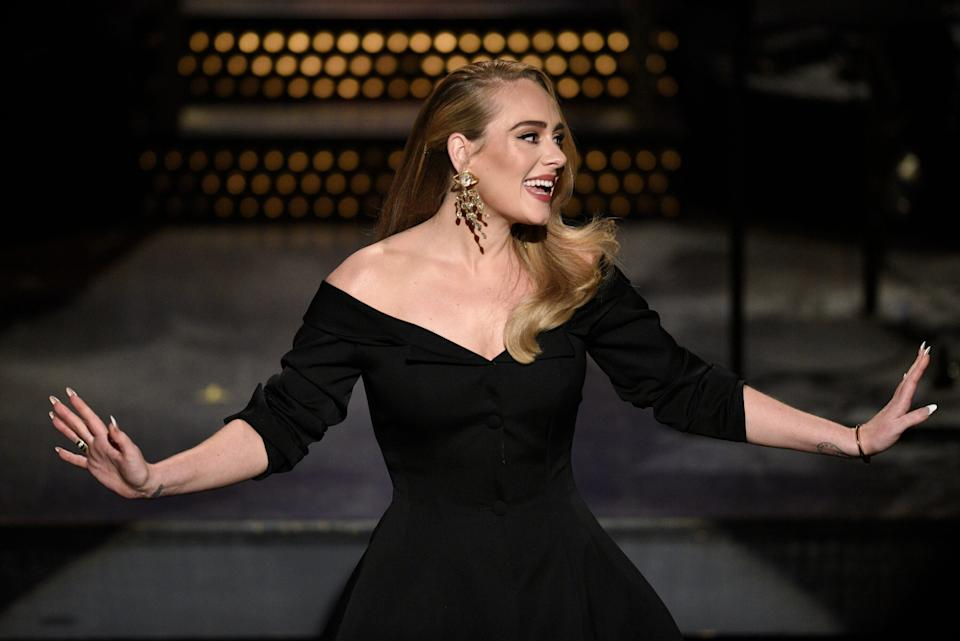 Adele hosting Saturday Night Live in October 2020 (Photo: NBC via Getty Images)