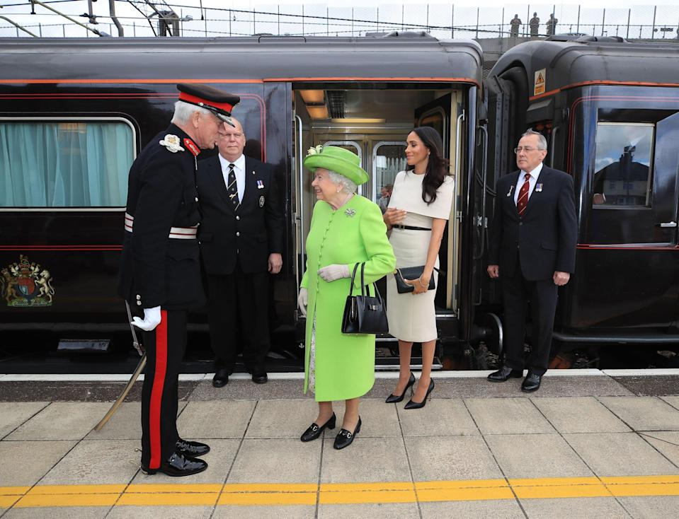 <p>In the year of the Queen's Silver Jubilee a single set of 'Royal Train' carriages was formed for the first time</p>PA