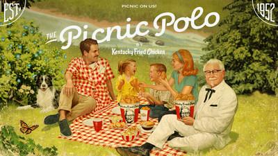 KFC's new Picnic Polo pairs perfectly with family and of course, an Original Recipe® bucket of fried chicken.