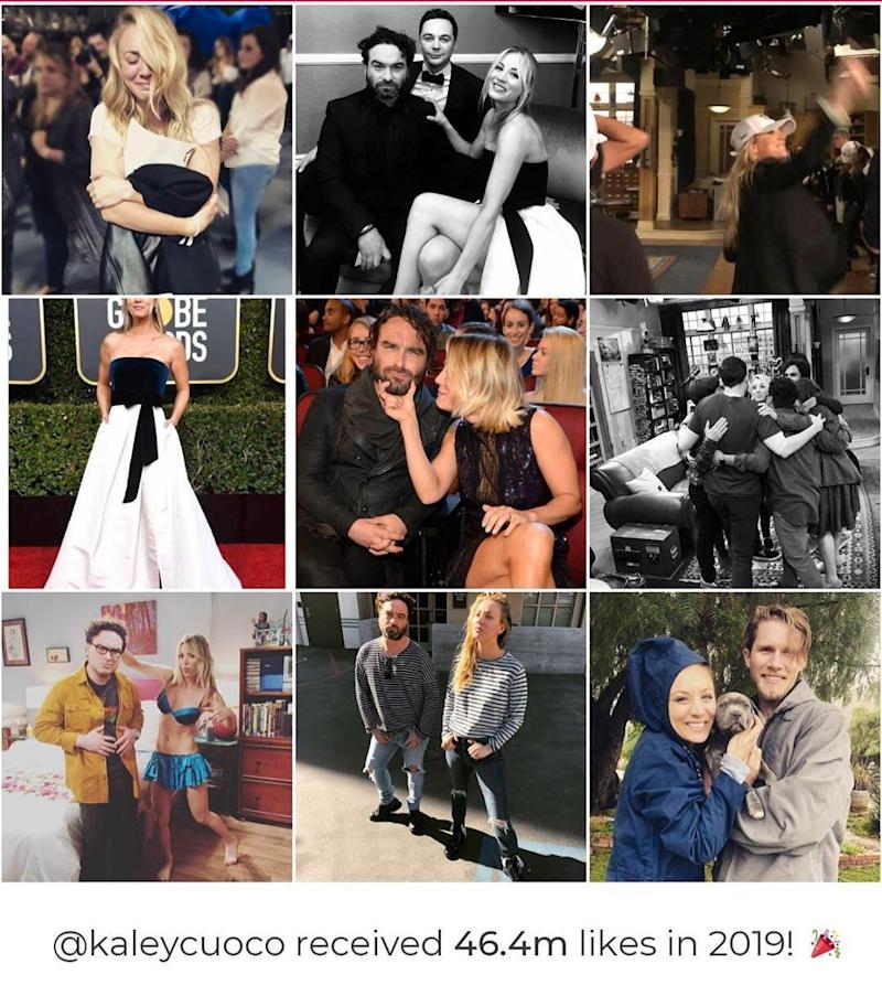 Kaley Cuoco shares Instagram panel of her best photos