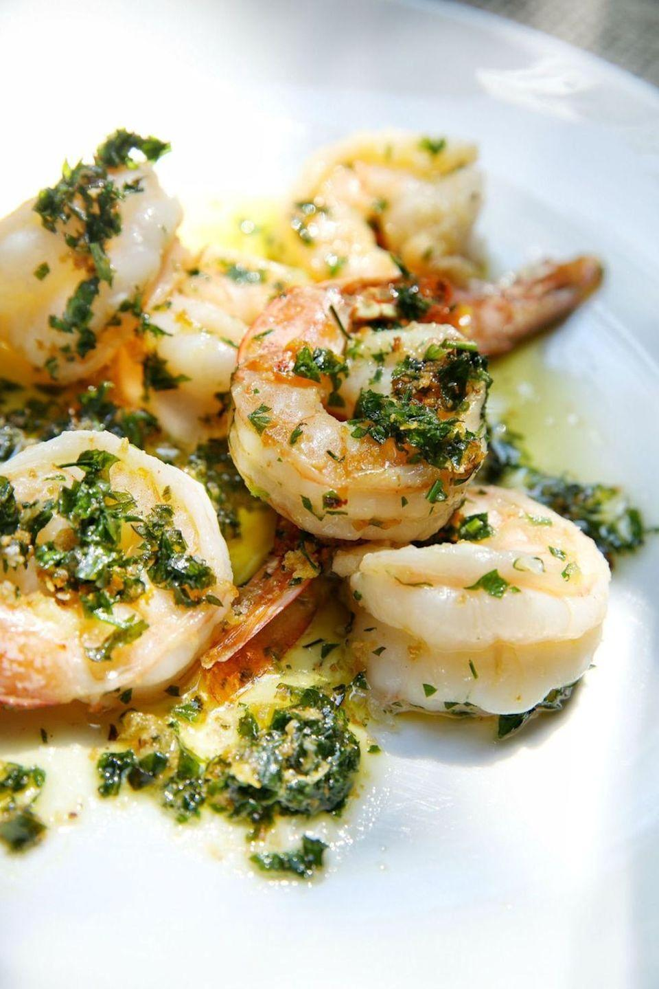 """<p>The simple combination of garlic, butter and parsley never fails.<br><br>Get the recipe from <a href=""""https://www.delish.com/cooking/recipe-ideas/recipes/a48673/garlic-parsley-shrimp-recipe/"""" rel=""""nofollow noopener"""" target=""""_blank"""" data-ylk=""""slk:Delish"""" class=""""link rapid-noclick-resp"""">Delish</a>.</p>"""