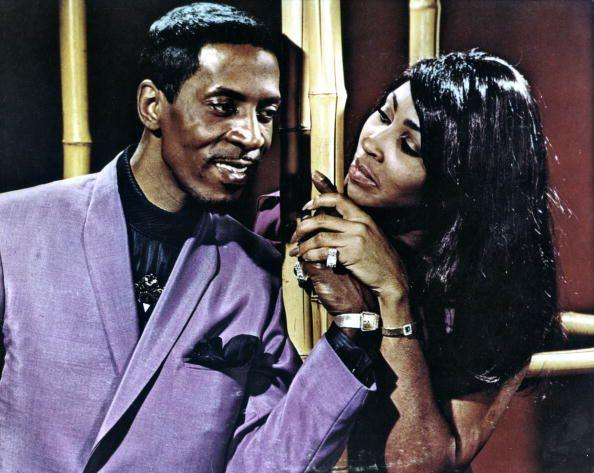 <p>Performing on stage with her former husband, Ike Turner. </p>