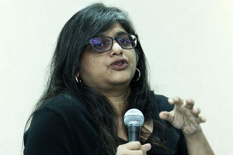Gayathry Venkiteswaran warned against labels such as 'ultra-liberals', 'extreme activists' and 'very vocal social activists'. — Picture by Miera Zulyana