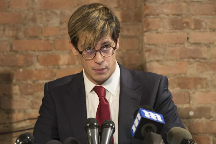 Milo Yiannopoulos speaks during a news conference on Feb. 21, 2017, in New York. Yiannopoulos resigned as editor of Breitbart Tech after coming under fire from other conservatives over comments on sexual relationships between boys and older men. (Photo: Mary Altaffer/AP)