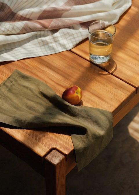 """<strong>Under £50</strong><br><br>My first new flat mission was finding a lovely linen tablecloth to cover my ugly table; my second has been finding some napkins to match. Hopefully these khaki green numbers will stop me spilling pasta sauce on everything I own.<br><br><br><strong>Mango</strong> 100% linen napkins (pack of 2), $, available at <a href=""""https://shop.mango.com/gb/home/table-linen/100-linen-napkins-pack-of-2_17091106.html?c=37"""" rel=""""nofollow noopener"""" target=""""_blank"""" data-ylk=""""slk:Mango"""" class=""""link rapid-noclick-resp"""">Mango</a>"""