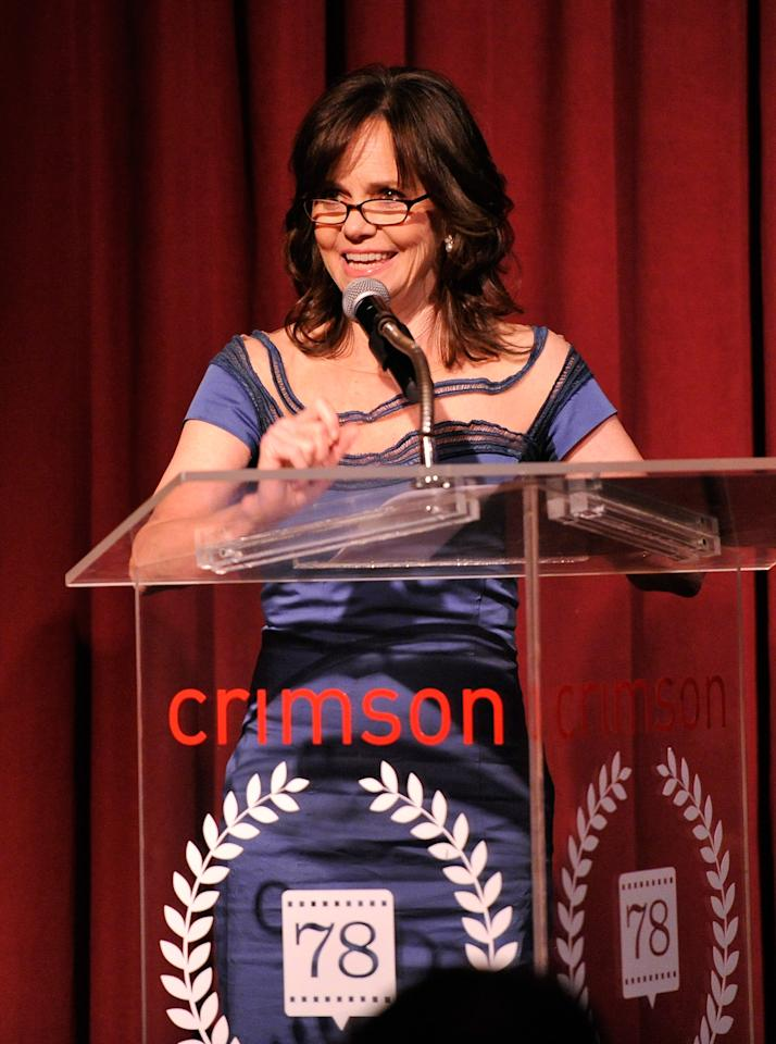 NEW YORK, NY - JANUARY 07:  Sally Field speaks onstage at the 2012 New York Film Critics Circle Awards at Crimson on January 7, 2013 in New York City.  (Photo by Stephen Lovekin/Getty Images)