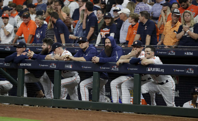 The Houston Astros were eliminated from the postseason Thursday. (AP Photo)