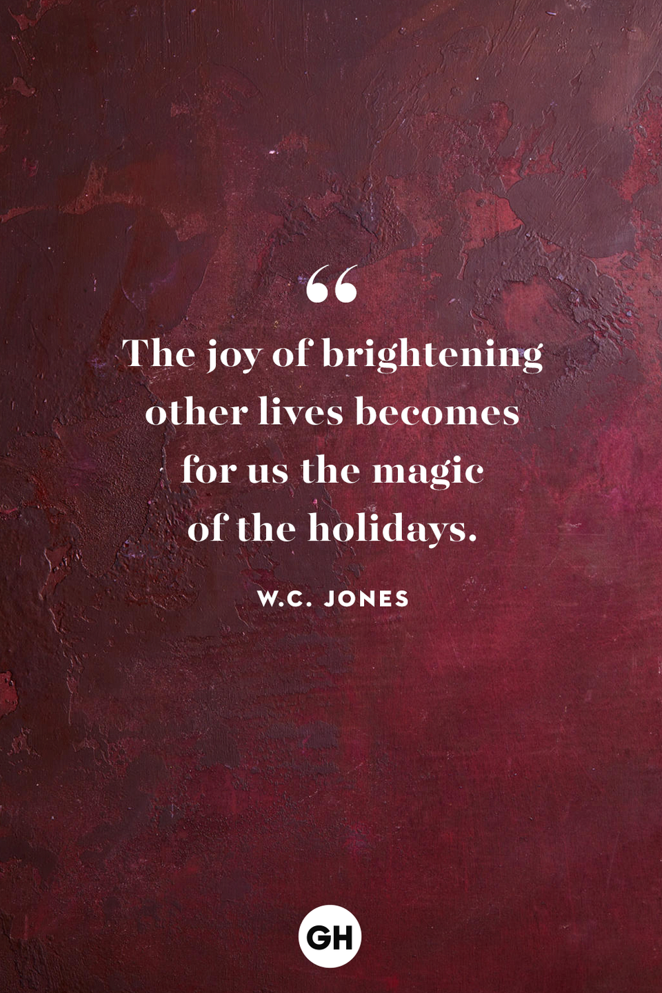 <p>The joy of brightening other lives becomes for us the magic of the holidays.</p>