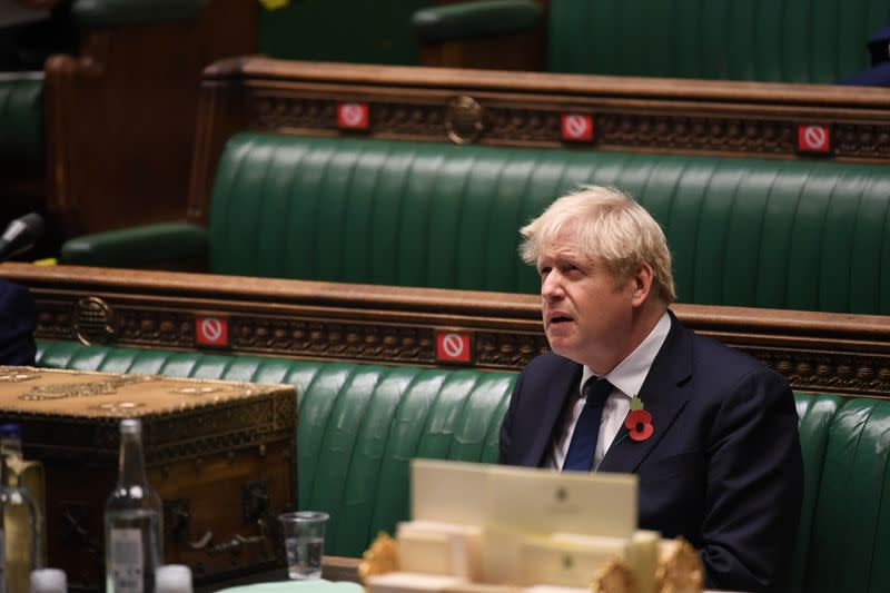 The weekly question-time debate at the House of Commons in London