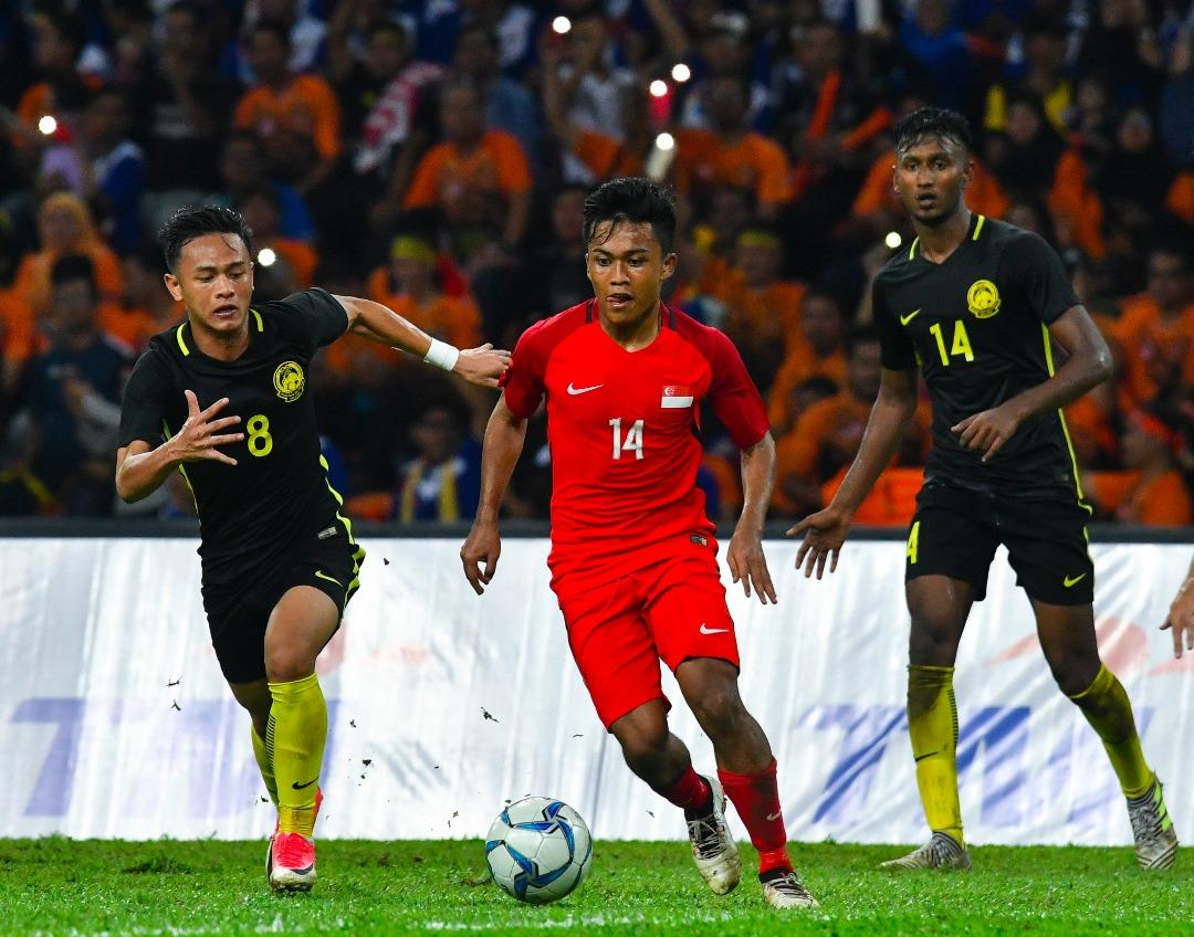 <p>Despite leading in the first half, Singapore fell 1-2 to Malaysia in their football group stage match for the SEA Games 2017 played at the Shah Alam Stadium on Wednesday (16 August) night. (PHOTO: Fadza Ishak for Yahoo News Singapore) </p>