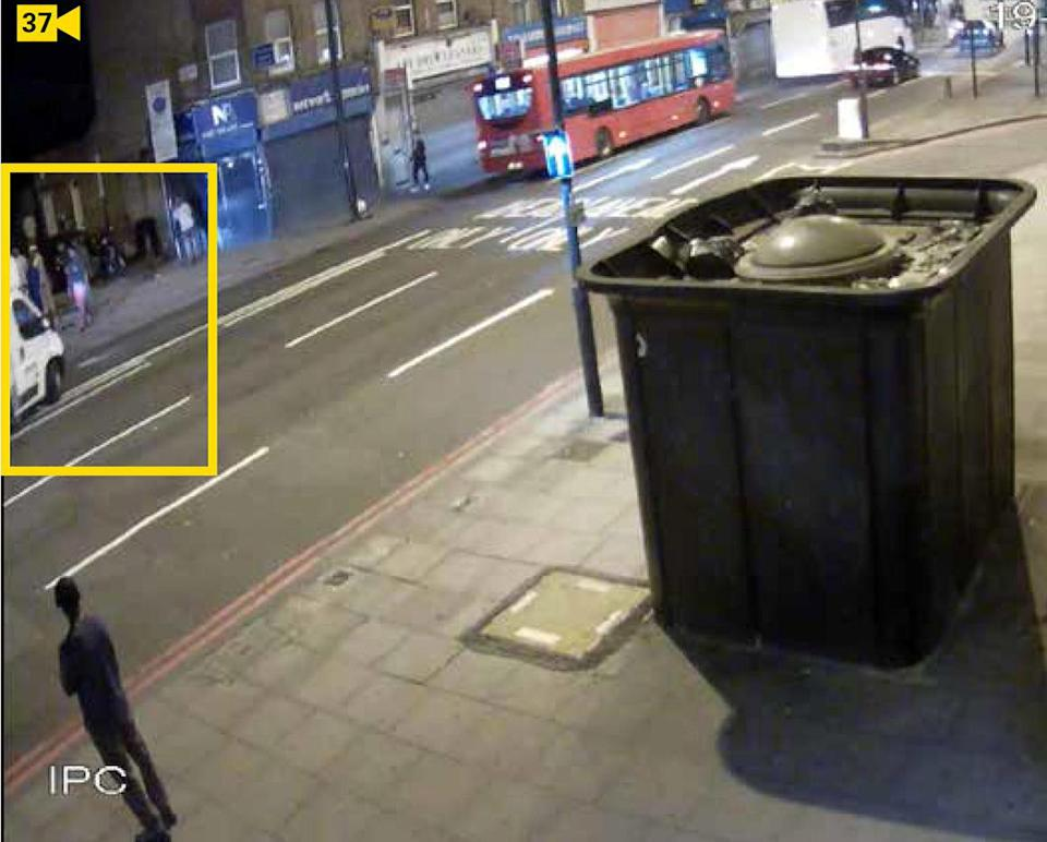 CCTV showing Darren Osborne driving at worshippers in Seven Sisters.