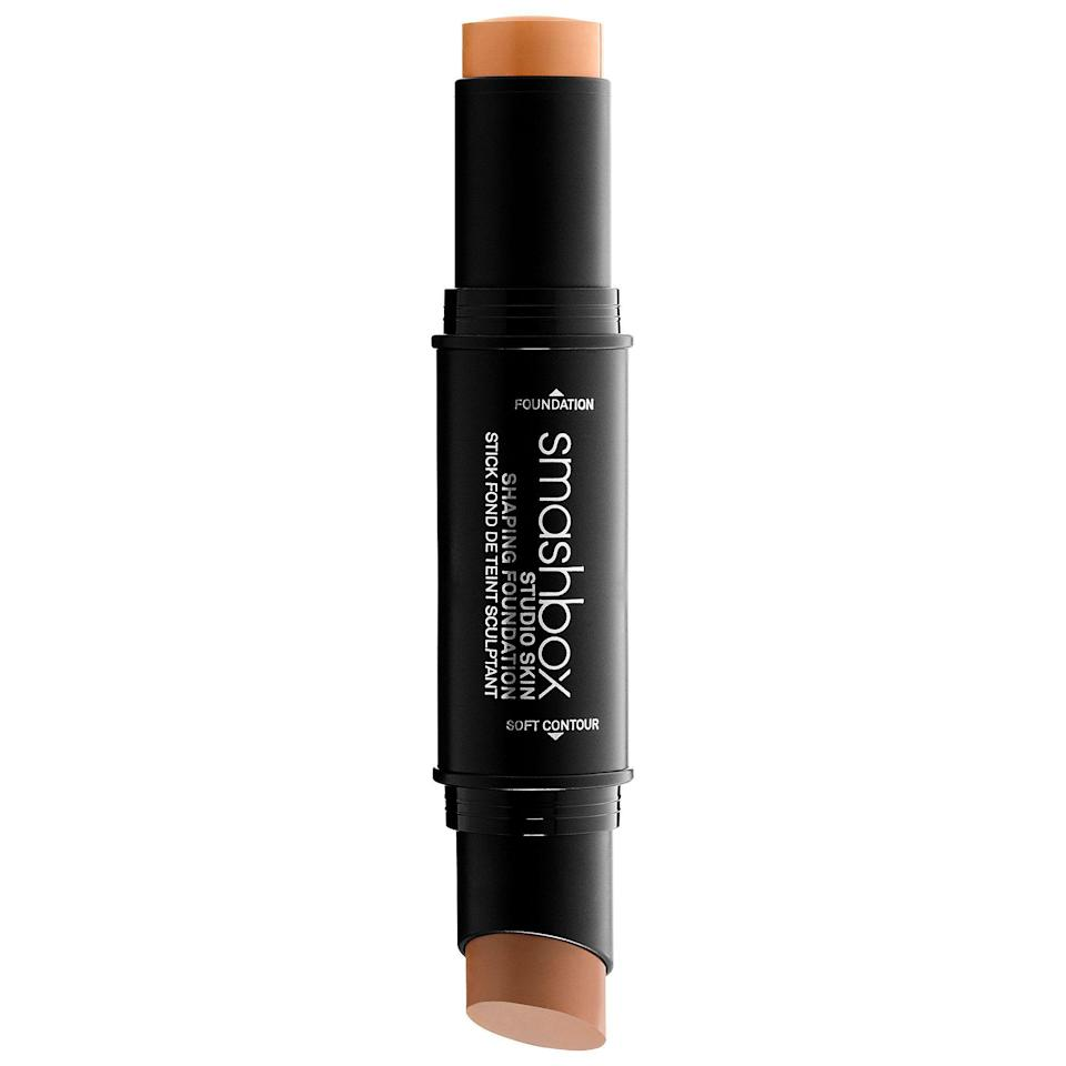 """<p>This dual-ended contouring stick will make getting chiseled cheekbones so easy.</p><p><strong>Smashbox</strong> Studio Skin Face Shaping Foundation Stick, $42, available at <a href=""""http://www.sephora.com/studio-skin-face-shaping-foundation-stick-P421228?skuId=1973528&icid2=just%20arrived%3Ap421228"""" rel=""""nofollow noopener"""" target=""""_blank"""" data-ylk=""""slk:Sephora"""" class=""""link rapid-noclick-resp"""">Sephora</a>.</p>"""