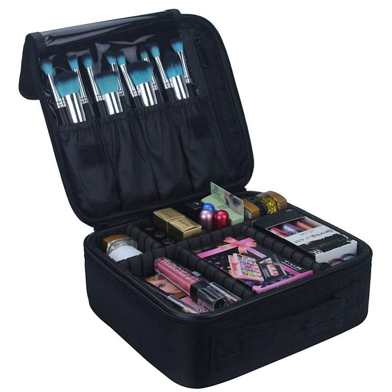 Relavel Travel Makeup Train Case. (Photo: Amazon)