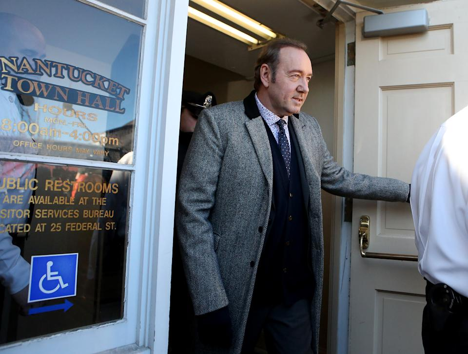 NANTUCKET, MA. - JANUARY 7: Actor Kevin Spacey leaves Nantucket District Court after his arraignment on January 7, 2019 in Nantucket, Massachusetts.  (Staff Photo By Nancy Lane/MediaNews Group/Boston Herald)