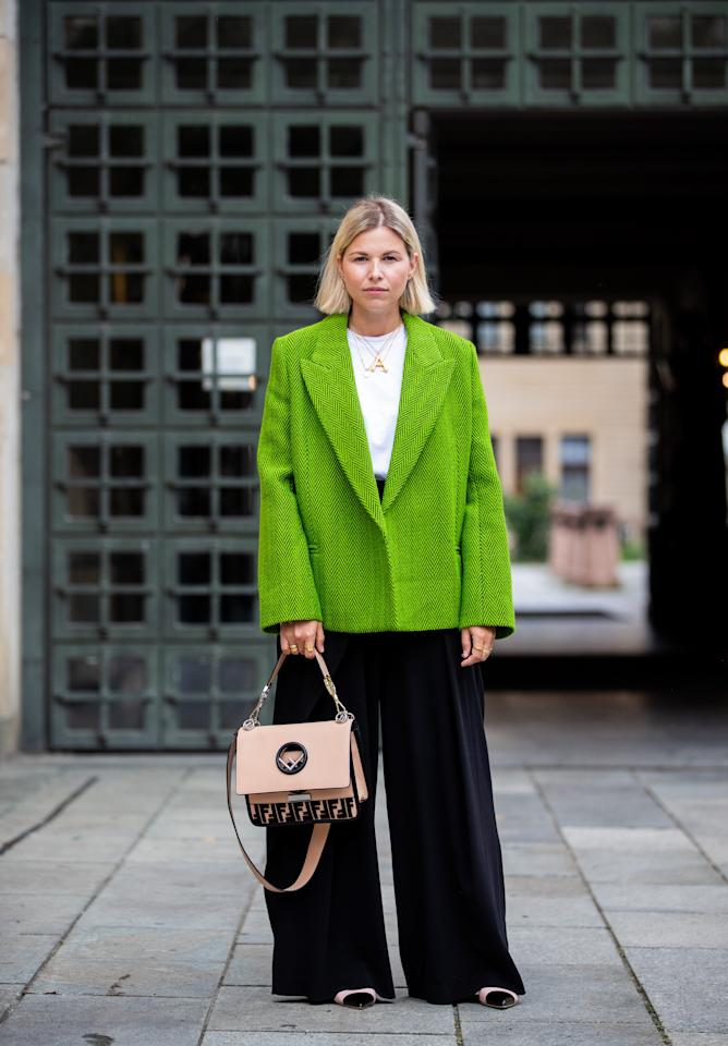 <p>Simply add a blazer over your everyday look, whether you're wearing a dress, slacks, or your favorite jeans.</p>
