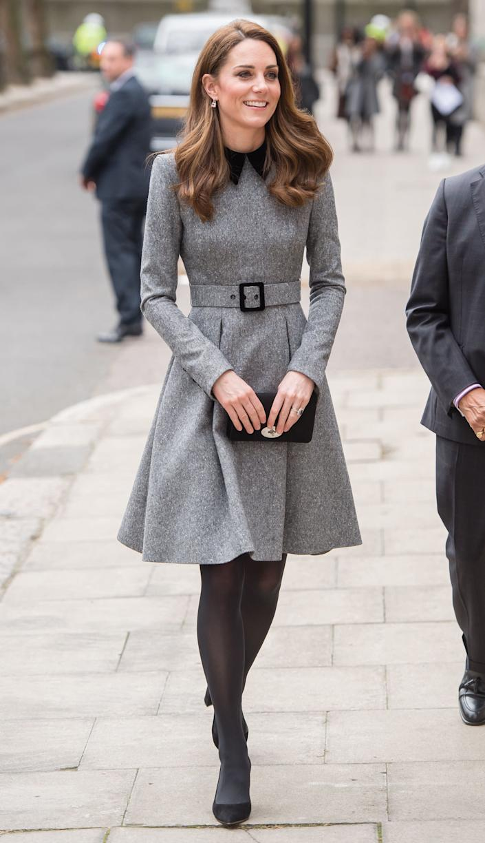 Kate visits The Foundling Museum in London on March 19.