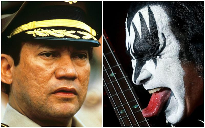 The music of KISS (right) was played at Manuel Noriega while he hid from the US - Rex/Barcroft