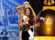 <p>Sparkles, cutouts, a train. North Dakota's Cara Mund had it all, and it paid off—she was crowned winner of the 2018 pageant.</p>