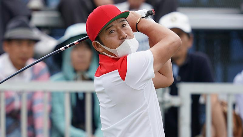 Hosung Choi whiffs with driver at Korea Tour event