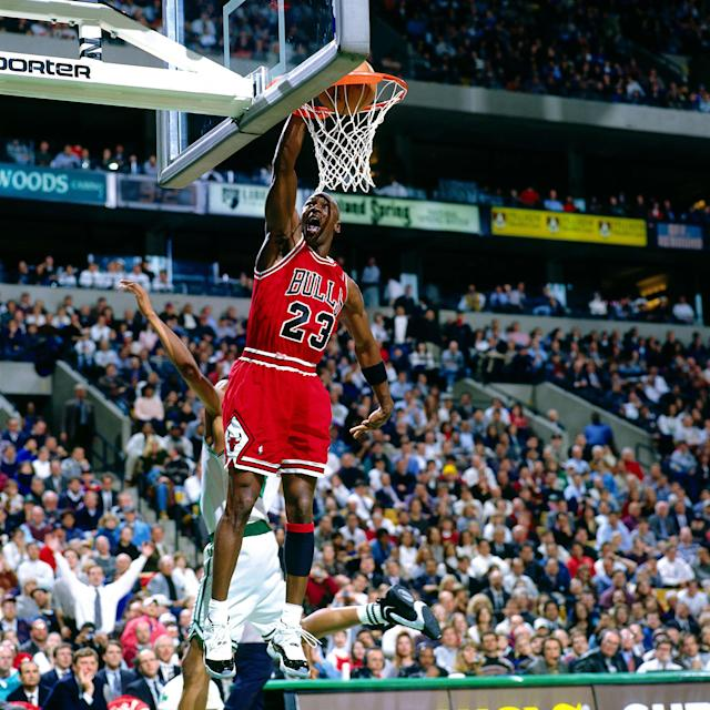 Ronaldo has the potential to bring superstar caliber to Juventus like Jordan did for the Chicago Bulls. (Photo: Nathaniel S. Butler/NBAE via Getty Images)