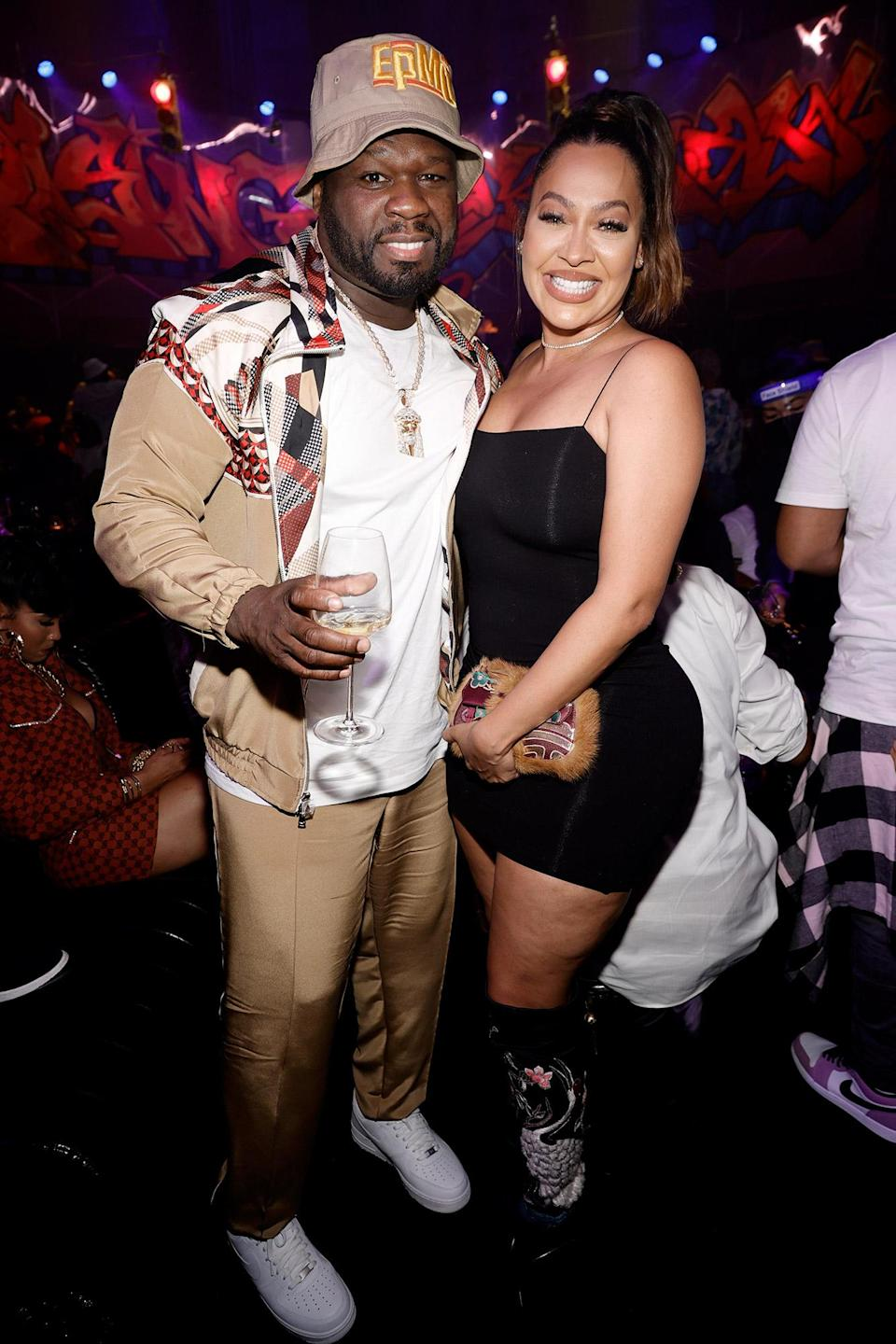 <p>50 Cent and La La Anthony pose at the <em>Power Book III: Raising Kanan</em> global premiere and screening at Hammerstein Ballroom on July 15 in N.Y.C.</p>