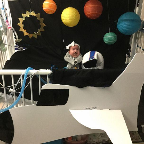 PHOTO: This baby is 'out of this world' cute in that astronaut costume. (Advocate Children's Hospital)