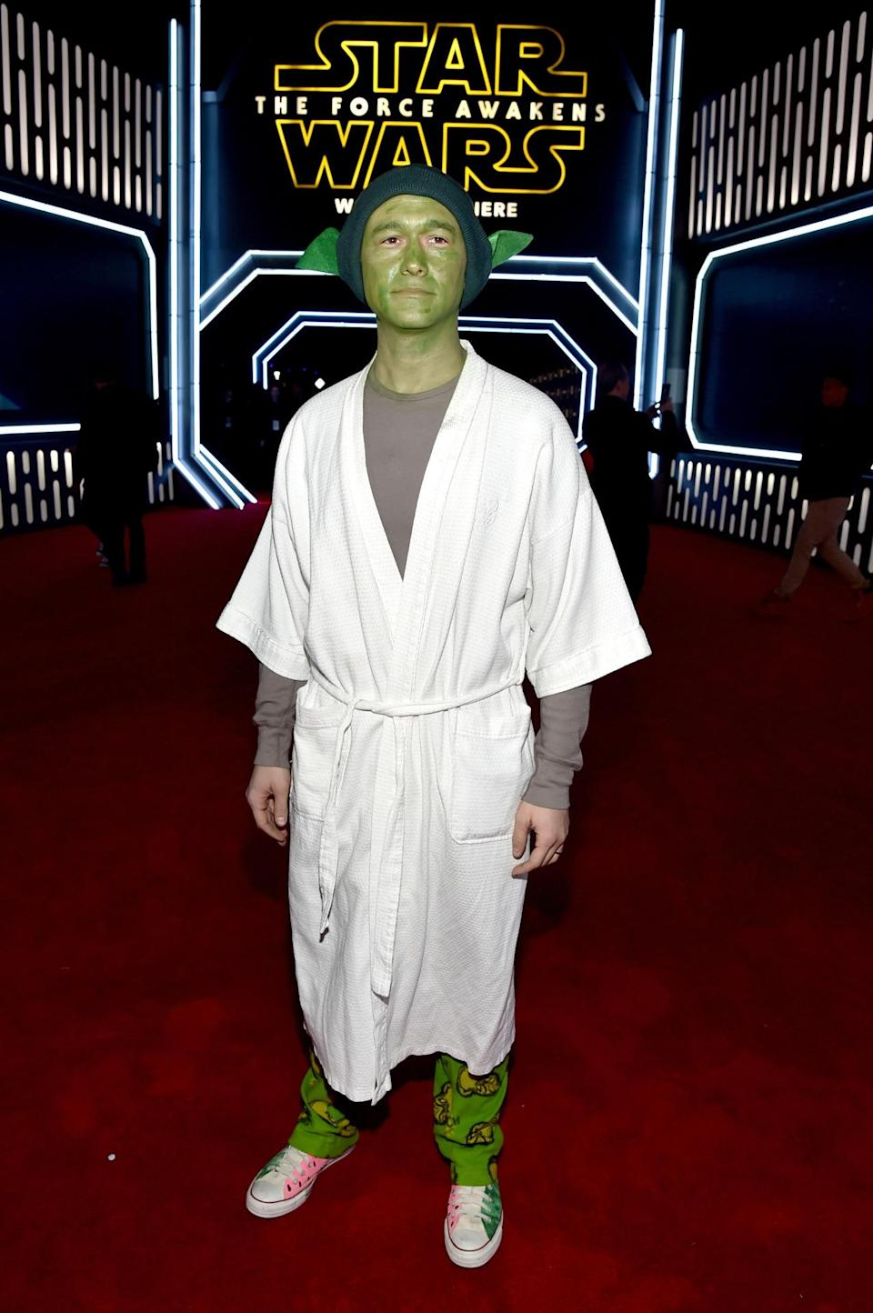 <p>Perhaps auditioning for the role of Yoda in a future <i>Star Wars</i> film, Joseph Gordon-Levitt showed up to the LA premiere in costume (plus Converse). <br>We'd cast you JGL!</p><p><i>Photo: Getty Images</i></p>