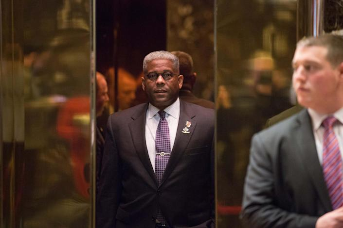 Allen West arrives to meet with President-elect Donald Trump at Trump Tower on Dec. 5, 2016 in New York. (Kevin Hagen / Getty Images file)