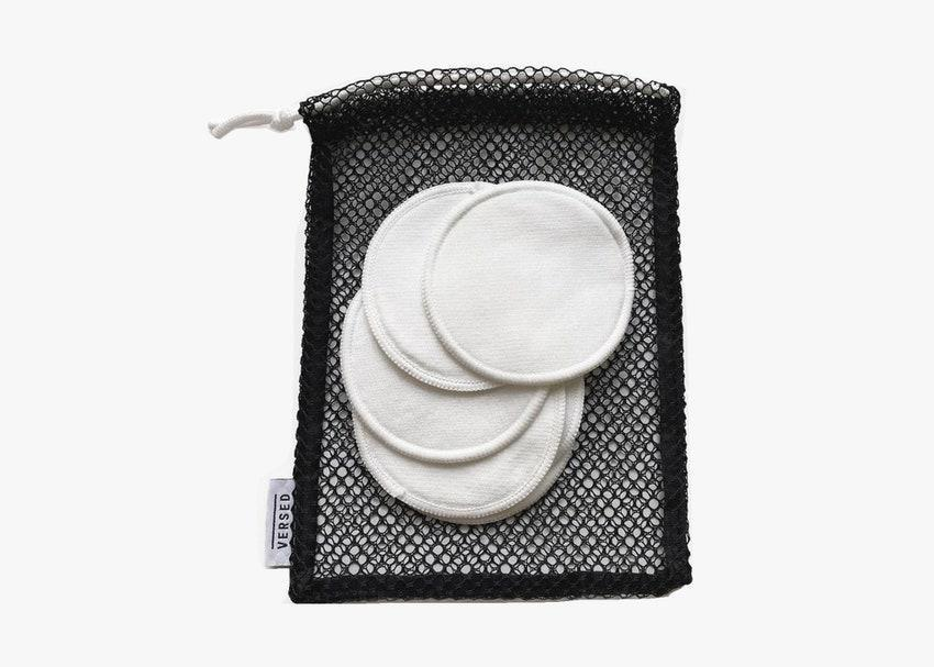 "For travelers who wear heavy makeup, these reusable cotton rounds work like the Grove towel on overdrive. You can use them like you would a normal cotton round with makeup remover or toner, but they'll last a whole lot longer than disposable rounds, <a href=""https://www.cntraveler.com/story/the-best-natural-products-for-your-dopp-kit?mbid=synd_yahoo_rss"" rel=""nofollow noopener"" target=""_blank"" data-ylk=""slk:since they can be"" class=""link rapid-noclick-resp"">since they can be</a> washed after every few uses (they even come with a handy wash bag). $20, Versed. <a href=""https://versedskin.com/products/down-to-earth-reusable-cotton-pads"" rel=""nofollow noopener"" target=""_blank"" data-ylk=""slk:Get it now!"" class=""link rapid-noclick-resp"">Get it now!</a>"