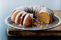 """A double dose of buttermilk (first in the batter and again in the glaze) adds a bright punch to this holiday-spiced pumpkin bundt cake. <a href=""""https://www.epicurious.com/recipes/food/views/pumpkin-spice-bundt-cake-with-buttermilk-icing-233011?mbid=synd_yahoo_rss"""" rel=""""nofollow noopener"""" target=""""_blank"""" data-ylk=""""slk:See recipe."""" class=""""link rapid-noclick-resp"""">See recipe.</a>"""