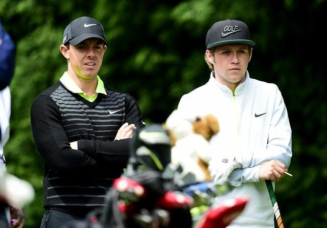 Rory McIlroy and Niall Horan in 2015