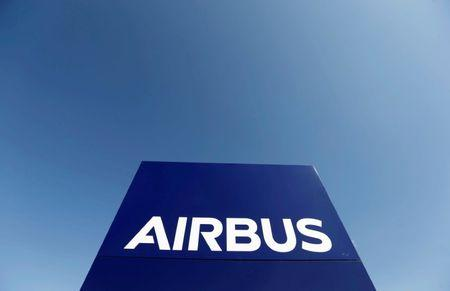 FILE PHOTO: The logo of Airbus Group is seen on the company's headquarters building in Toulouse, Southwestern France