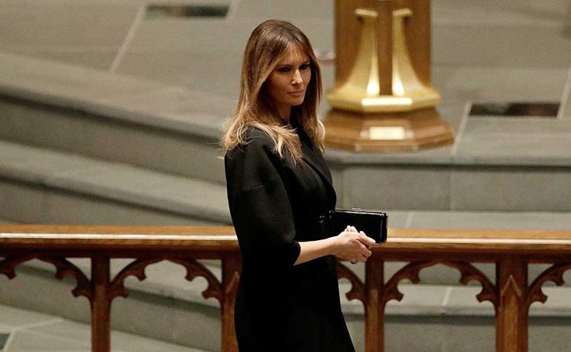 First lady Melania Trump attended the service