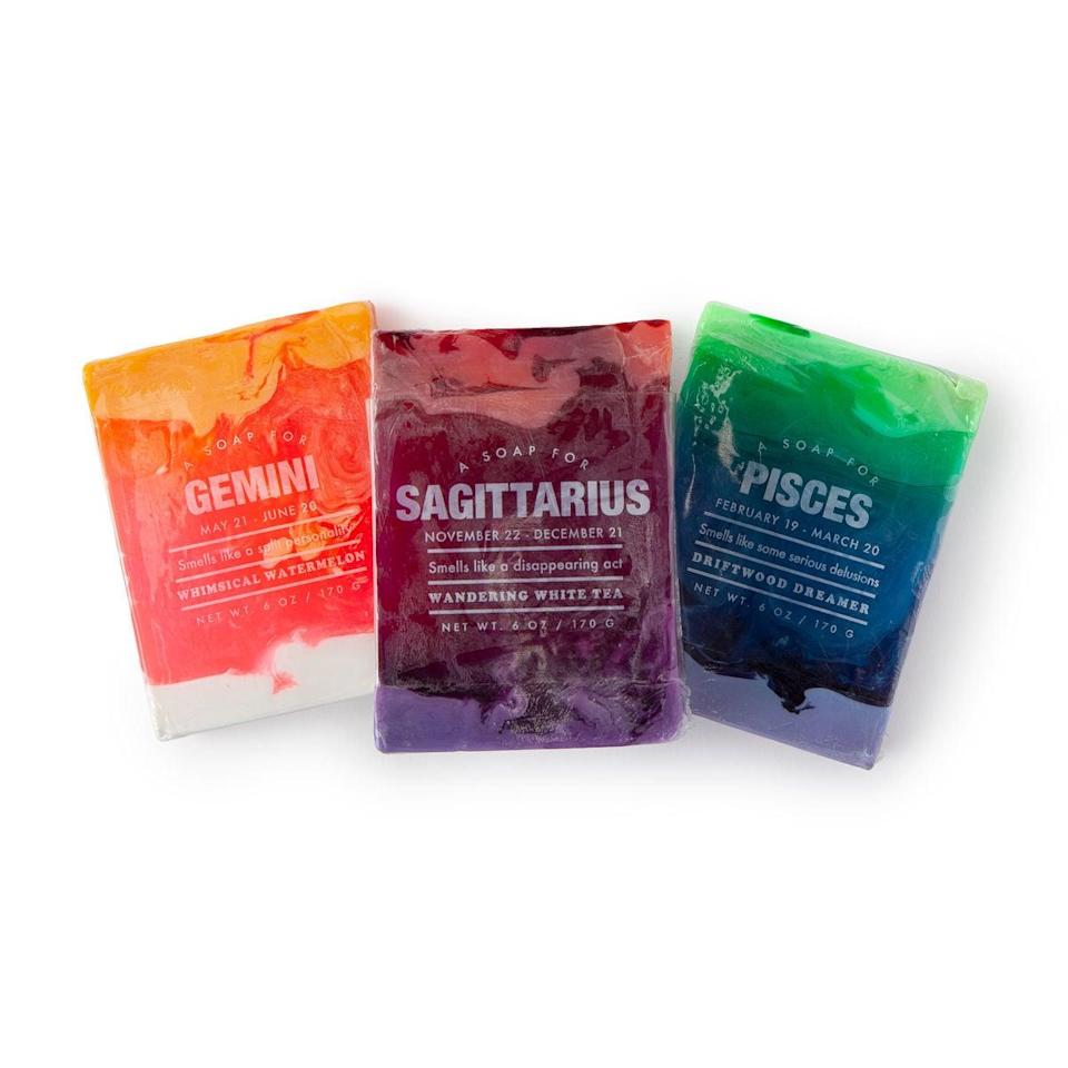 <p>This <span>Astrology Soap</span> ($10) always makes for a fun stocking stuffer.</p>