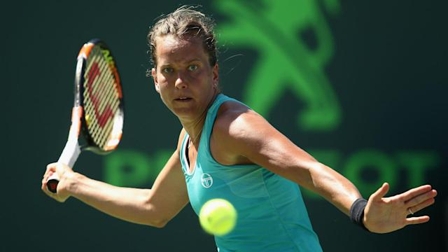 Barbora Strycova lost her way in Bienne, but recovered to avoid a surprise first-round exit against Marie Bouzkova.