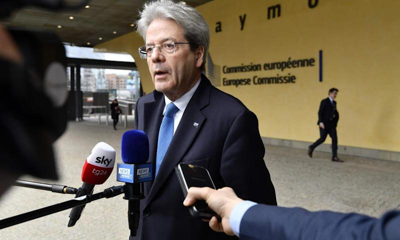 The EU commissioner for economy Paolo Gentiloni warned it was 'extraordinarily important' that the response of countries within the euro was properly coordinated
