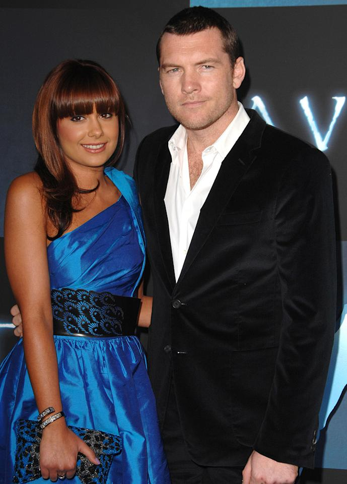 """<a href=""""http://movies.yahoo.com/movie/contributor/1800424136"""">Sam Worthington</a> and guest at the Los Angeles premiere of <a href=""""http://movies.yahoo.com/movie/1809804784/info"""">Avatar</a> - 12/16/2009"""