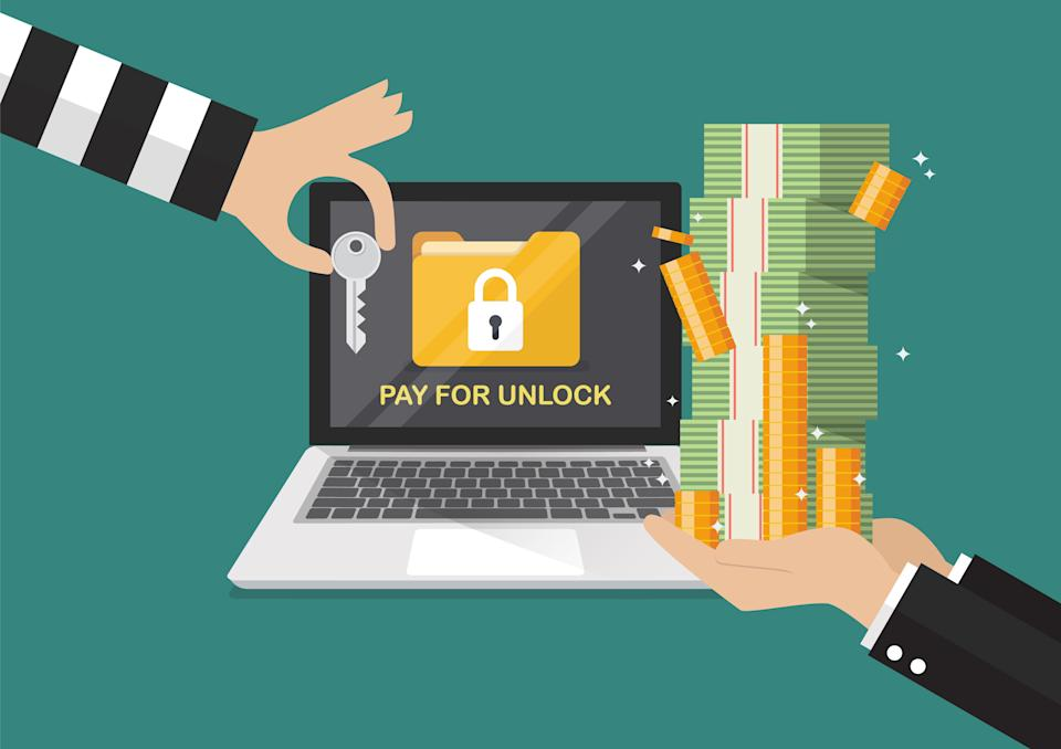 Ransomware steals your data and demands a monetary ransom. Payment does not ensure your data will be restored, though. (Photo: Getty)