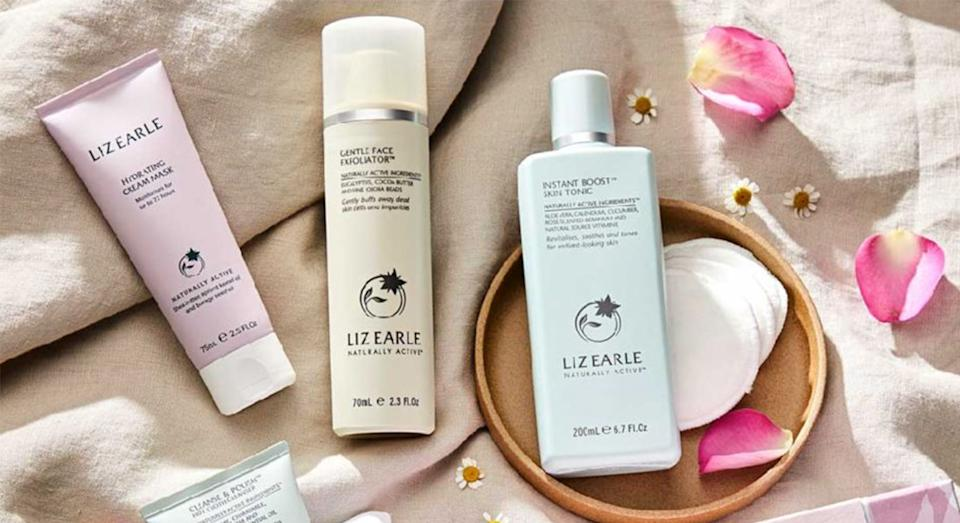Liz Earle's Instant Radiance Collection Kit worth £70 is available for half the price.  (Boots)