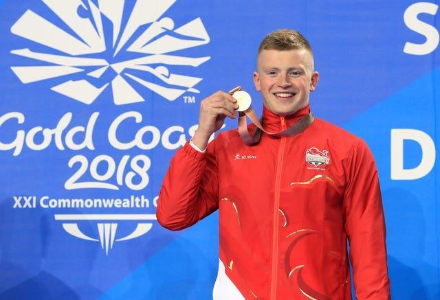 Adam Peaty won Commonwealth gold in the pool in 2018