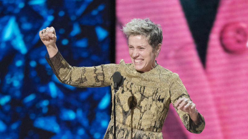 Frances McDormand's Powerful Oscars Speech Celebrated Women And Stole The Show