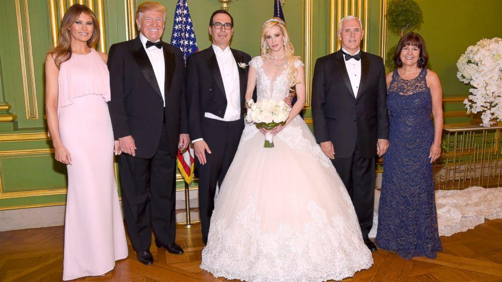Trumps attend Steve Mnuchin's wedding, officiated by Mike Pence (ABC News)