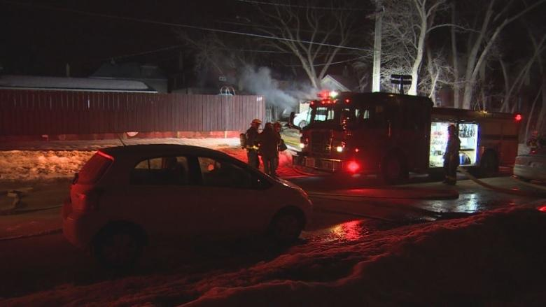 Two vehicles, Hydro pole damaged in Norwood-area garage fire