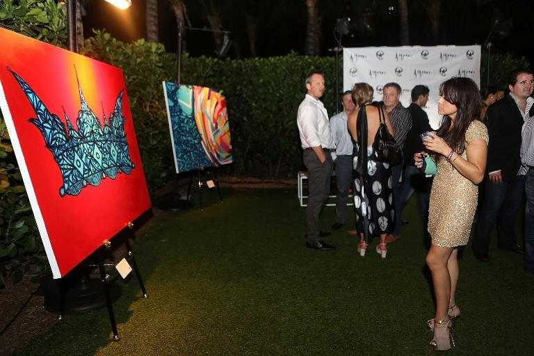 A general view of atmosphere of Alexander Mijares Art Basel At W South Beach Hotel & Residences at W South Beach on December 8, 2012 in Miami Beach, Florida
