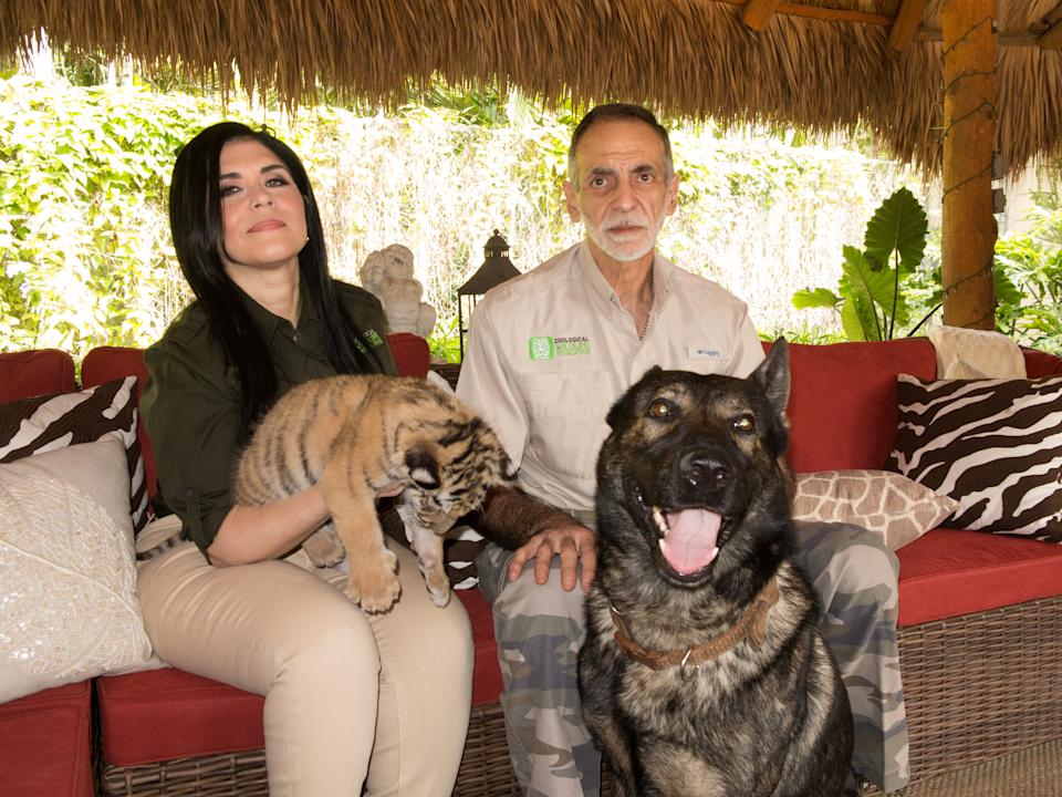 Owners Mario and Maria Tabraue at the Zoological Wildlife Foundation