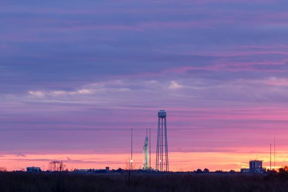 Antares rocket on launch pad