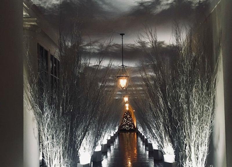 trump white house christmas decorations horror movie memes