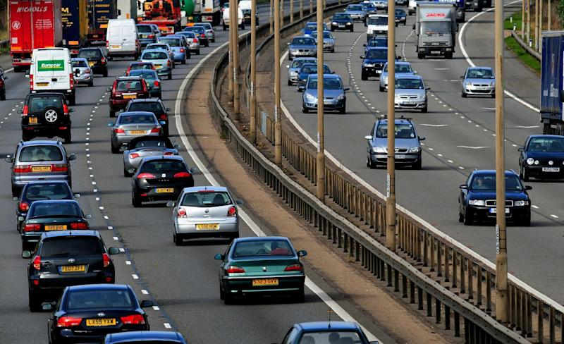 A picture of road traffic ahead of new mobile phone laws for Queensland. Source: AAP